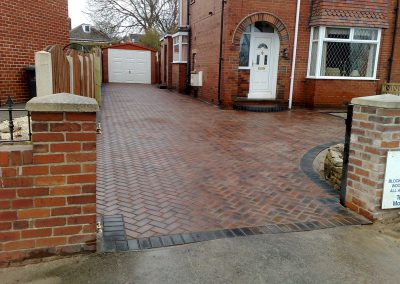 Plaspave 60 Brindle block paving installation, Staincross, Barnsley
