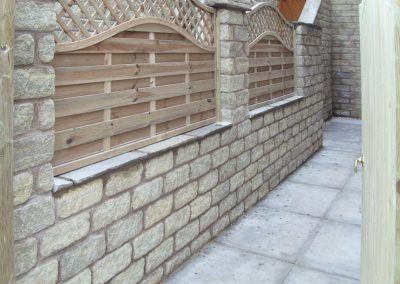 Boundary wall and fencing installed in Silkstone