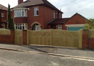 Chevron wooden gates installed in Barnsley