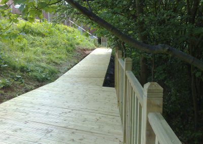 Garden Decking solution to a difficult sloped area