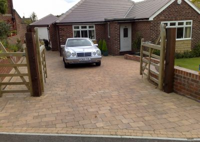 Sorrento Block Paving, walling & gates installed in Birdwell, Barnsley