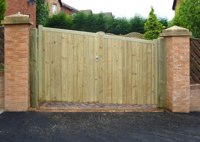 Driveway gates installed in Penistone