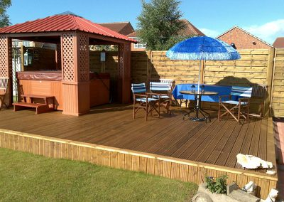 Garden decking for hot tub, Birdwell, Barnsley
