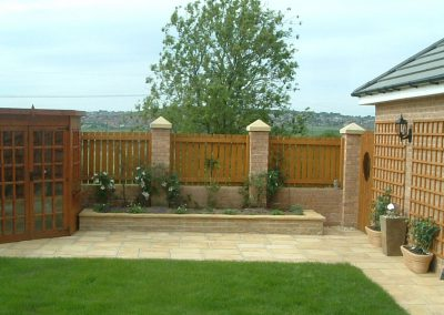Garden fencing installation, Barnsley South Yorkshire