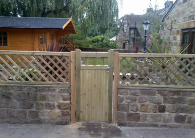 Garden fecning and gates installed in Billingley