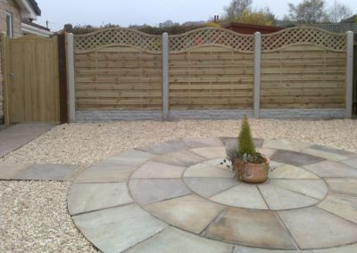 Garden fencing and paving installation, Darton