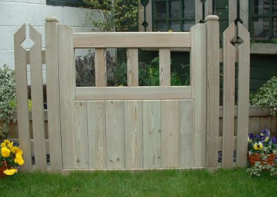 Classic wooden garden gates