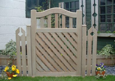 Crossbow wooden garden gates