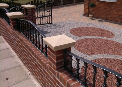 Gates, railings, walls, paving & landscaping in Monk Bretton