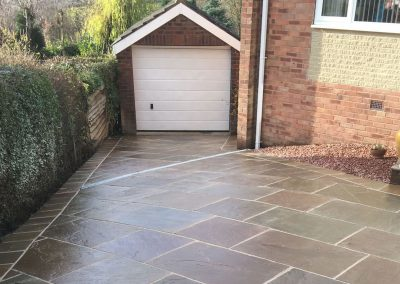 Indian Sandstone driveway installation, Barnsley