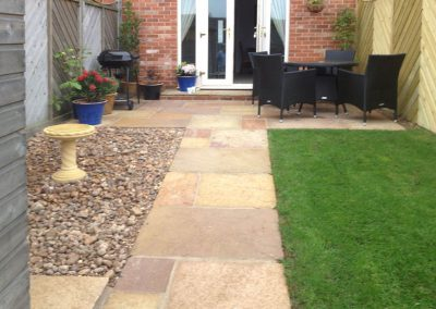 Raj Green Indian Sandstone paving, turfing & landscaping, Ardsley, Barnsley
