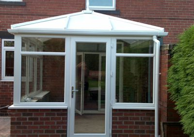 Installation of conservatory and garden landscaping, Barnsley