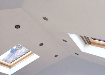 Thermally insulated converted conservatory ceiling