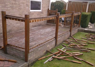 Old decking replaced in Wombwell, Barnsley