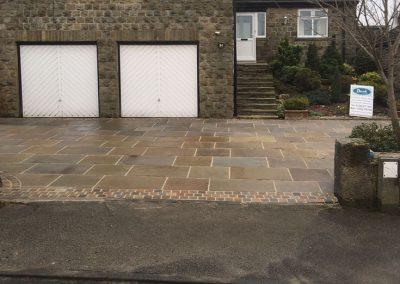 Indain sandstone driveway Barnsley