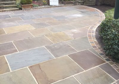 Indian Sanstone landscaping,Raj Green, Shafton near Barnsley