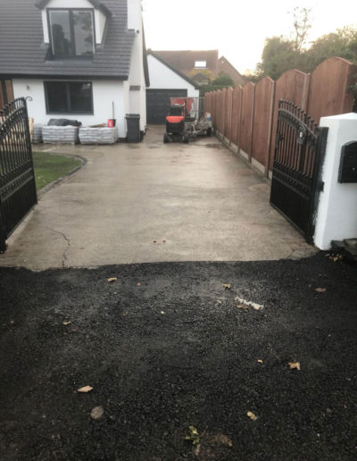Resin driveway preparation in Barnsley, South Yorkshire
