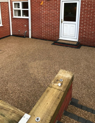 Resin patios and paths installed in Barnsley, South Yorkshire