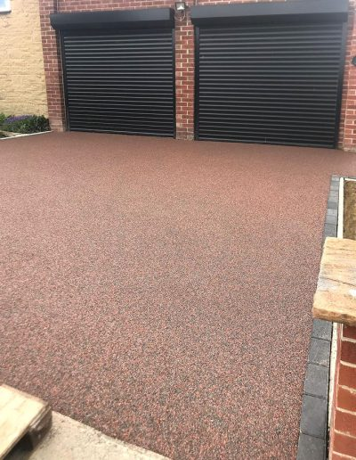 Recent resin driveway installation, Barnsley