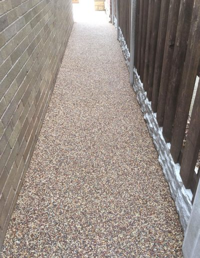 Practical and attractive resin path, Barnsley